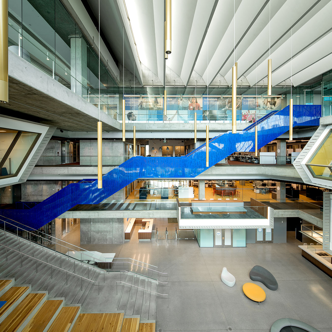 Intuit lobby and feature stair