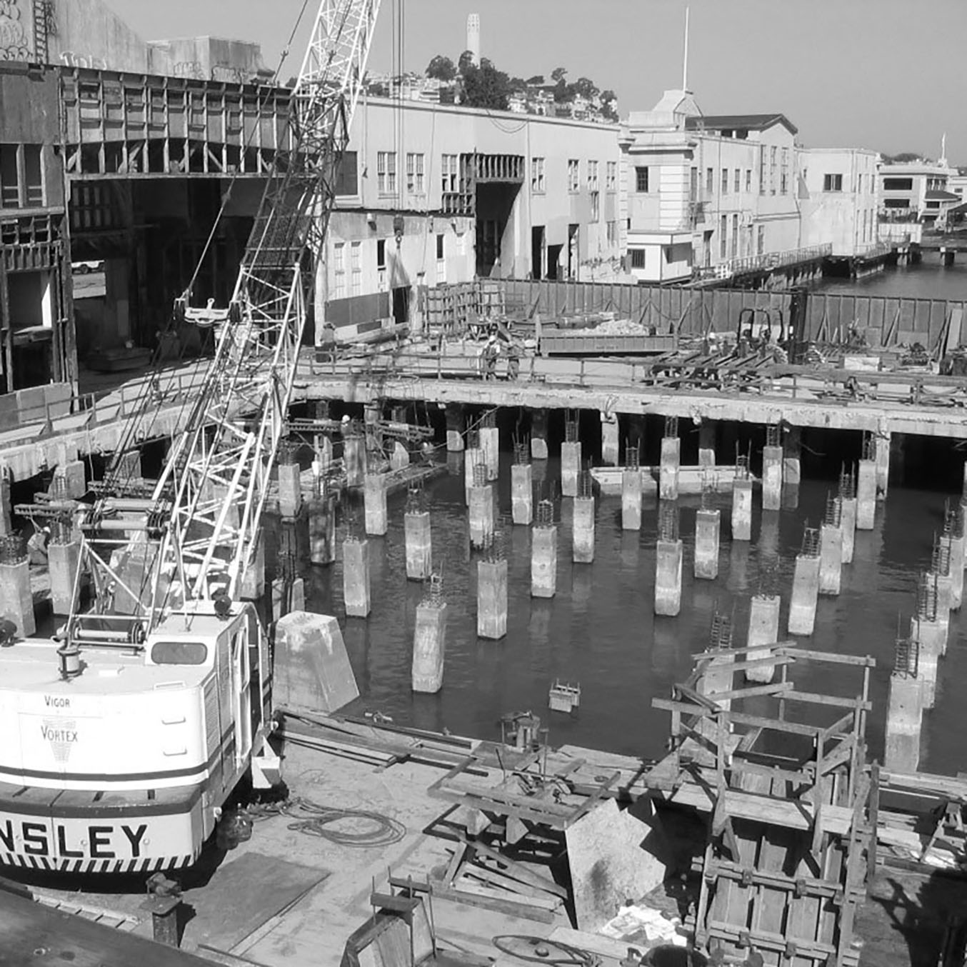 Piers 1.5, 3 & 5 construction
