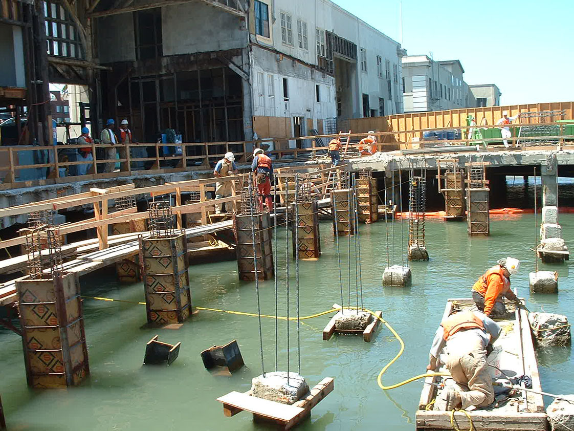 Retrofit of San Francisco Piers 1,3 & 5