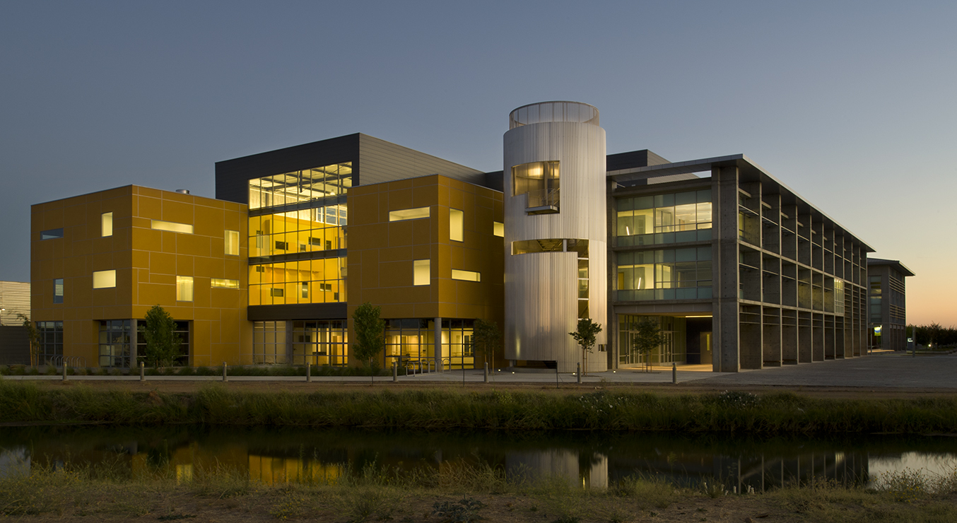 UC Merced Social Sciences and Management Building at Sunset