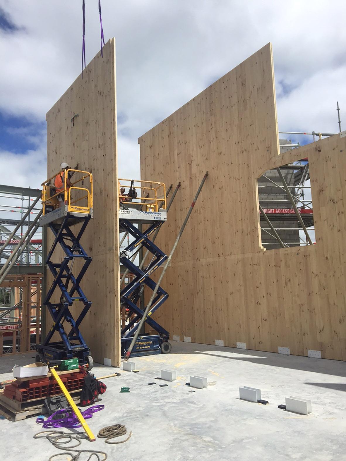 Mass timber 3 story condo units