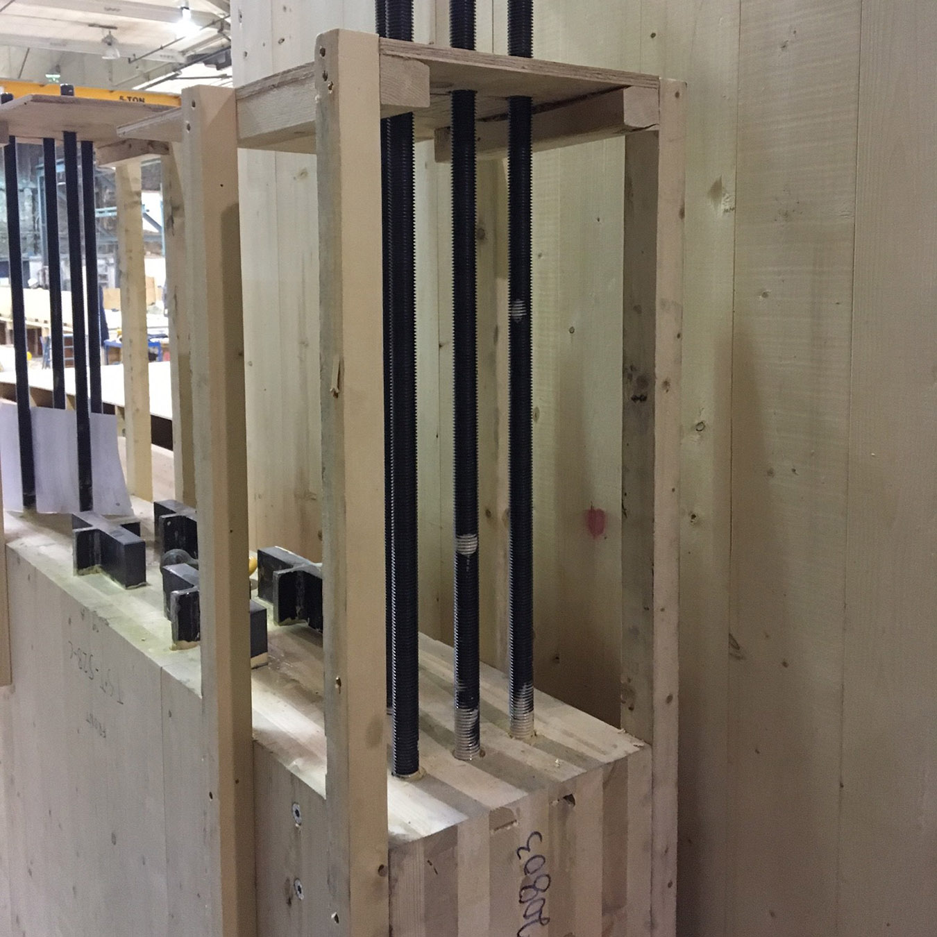 Mass timber shear wall