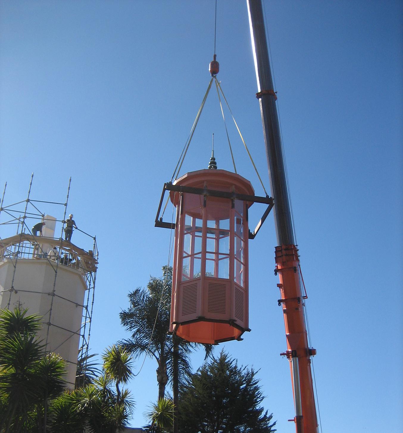 Coral Casino Beach Cabana Club Historic Beacon Crane Lift