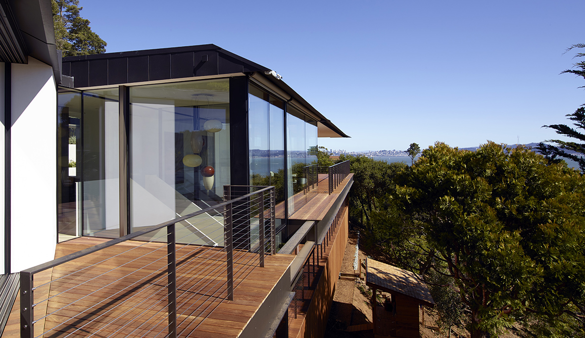 Eucalyptus Residence overhangs and porch