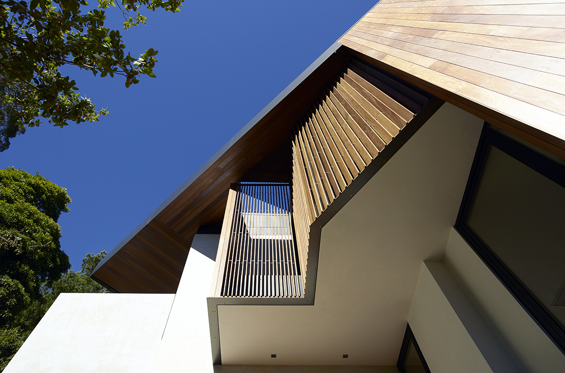 Eucalyptus Residence cantilever and louvers
