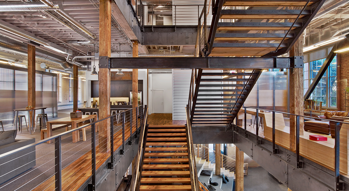 Heroku Office Main Stairwell