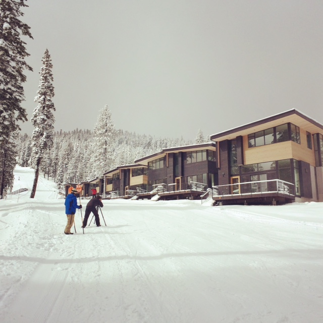 Northstar Stellar Residences with Snow and Skiiers