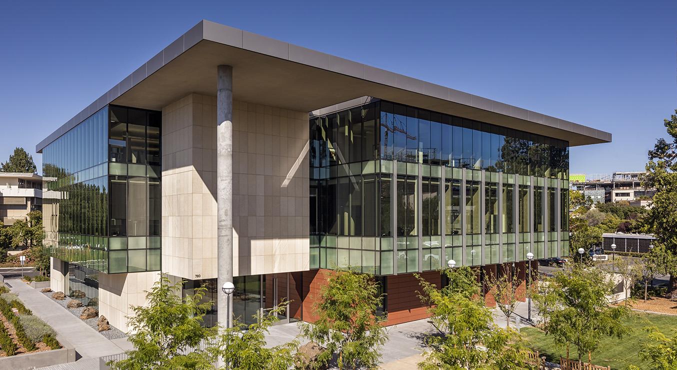 Stanford C.J. Huange School of Medicine Exterior at Angle, Daytime