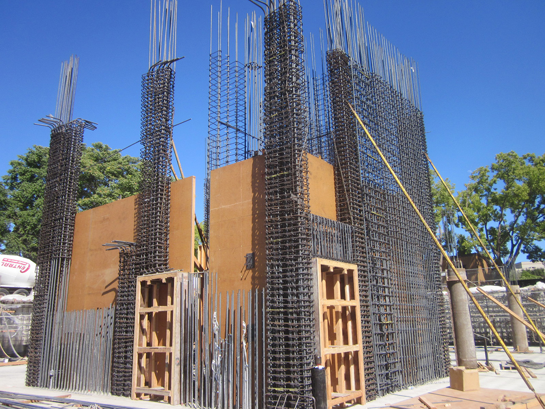 Stanford School of Medicine C.J. Huang Building Under Construction with Shear Core