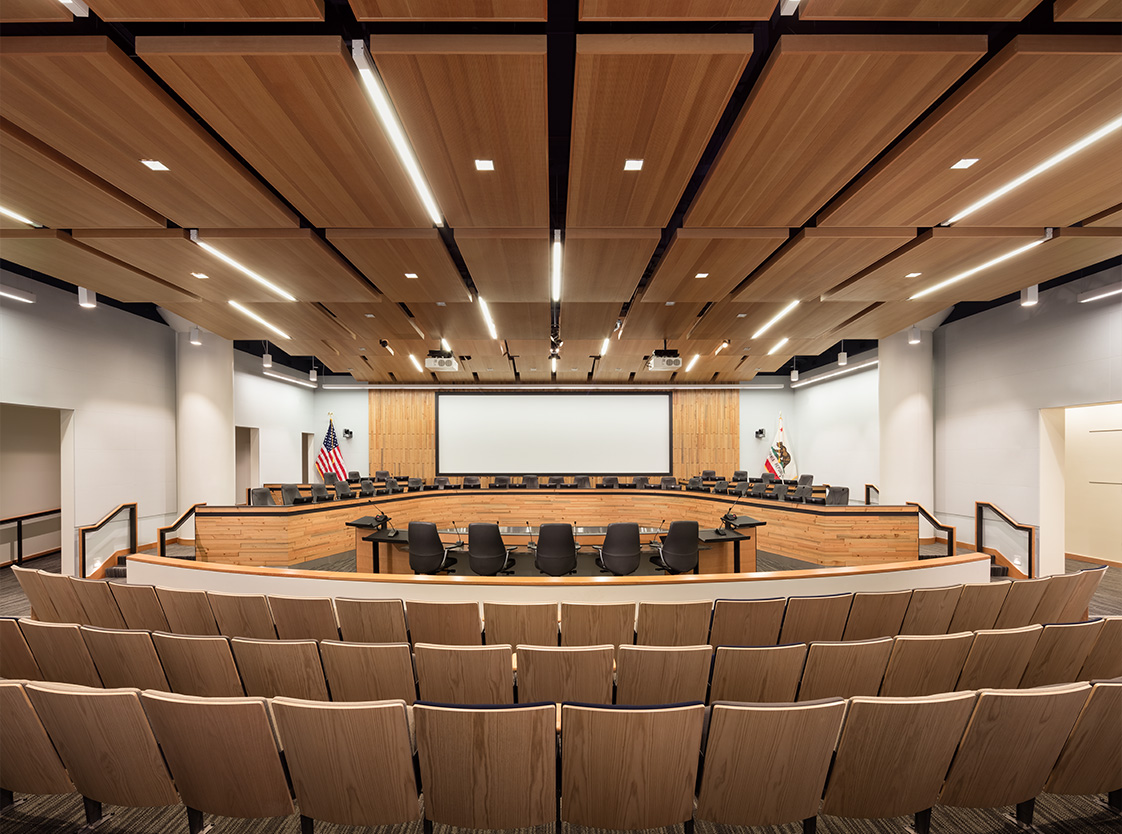Bay Area Metro Center Interior Conference Room with Wood Finishes