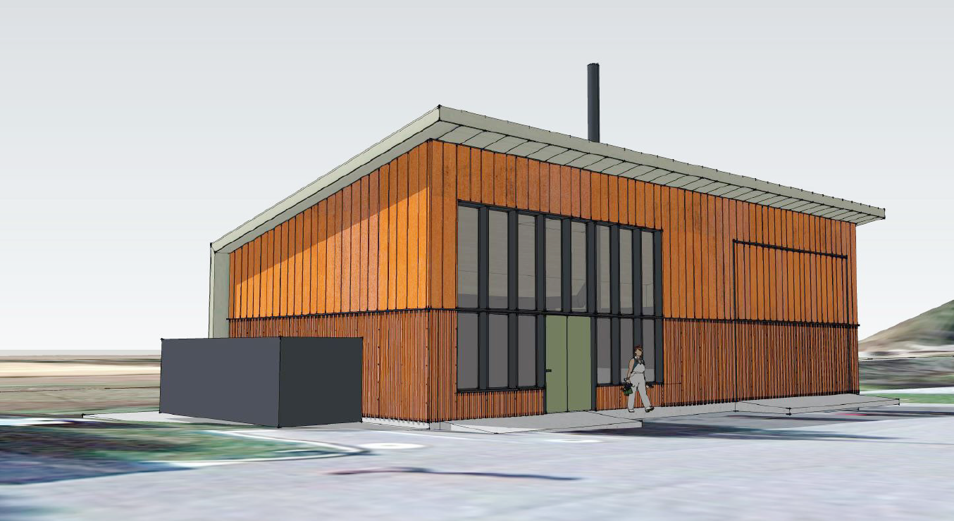 Rendering of Biomass Boiler Building by AMLGM