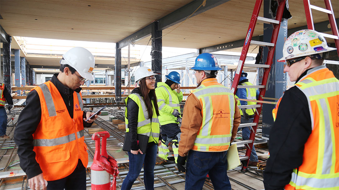 Holmes Team at Mass Timber Construction Site in Silicon Valley, California