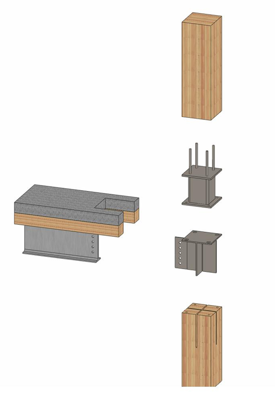 Cross-Laminated Timber SOLIDWORKS Model Deconstructed by Holmes Structures