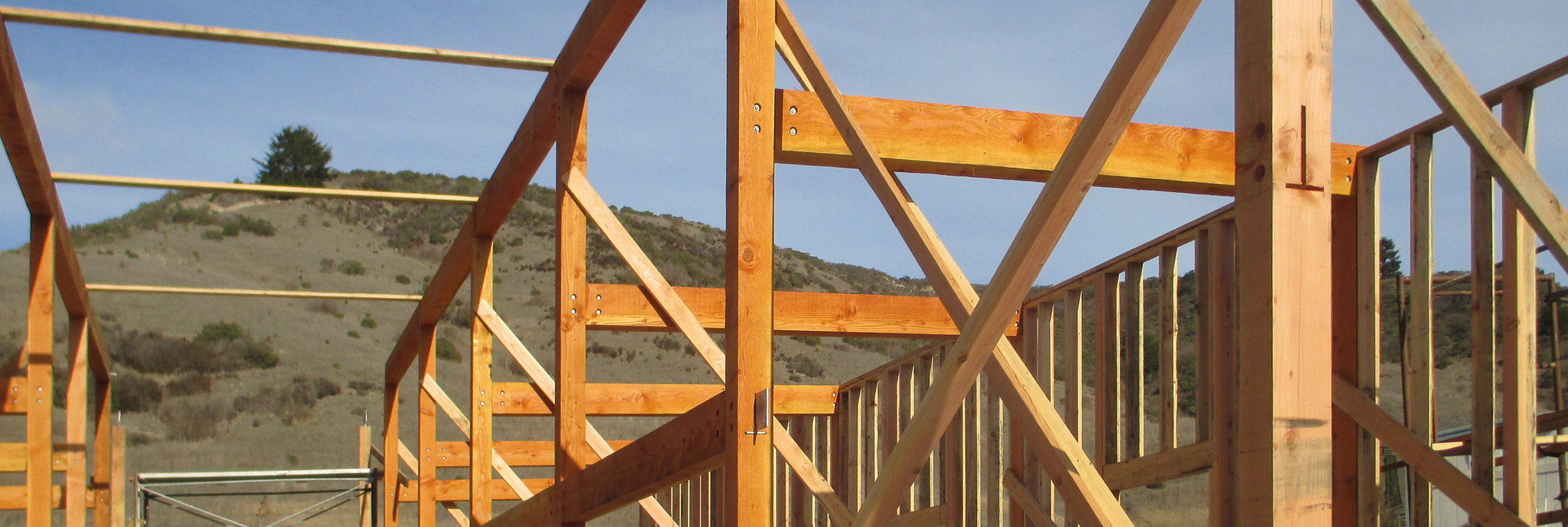 Pomponio Barn wood structure detail connections