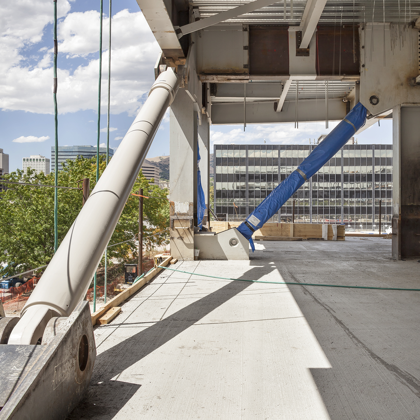 Salt Lake City Public Safety Building Under Construction: Moment Frame and Damper