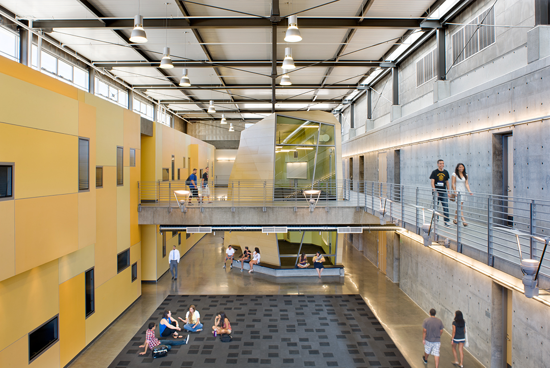 UC Merced Social Sciences and Management Interior with Students