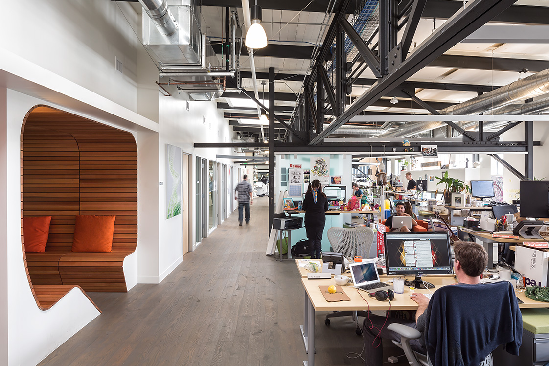 Autodesk Pire 9 San Francisco Office Interior with Booth