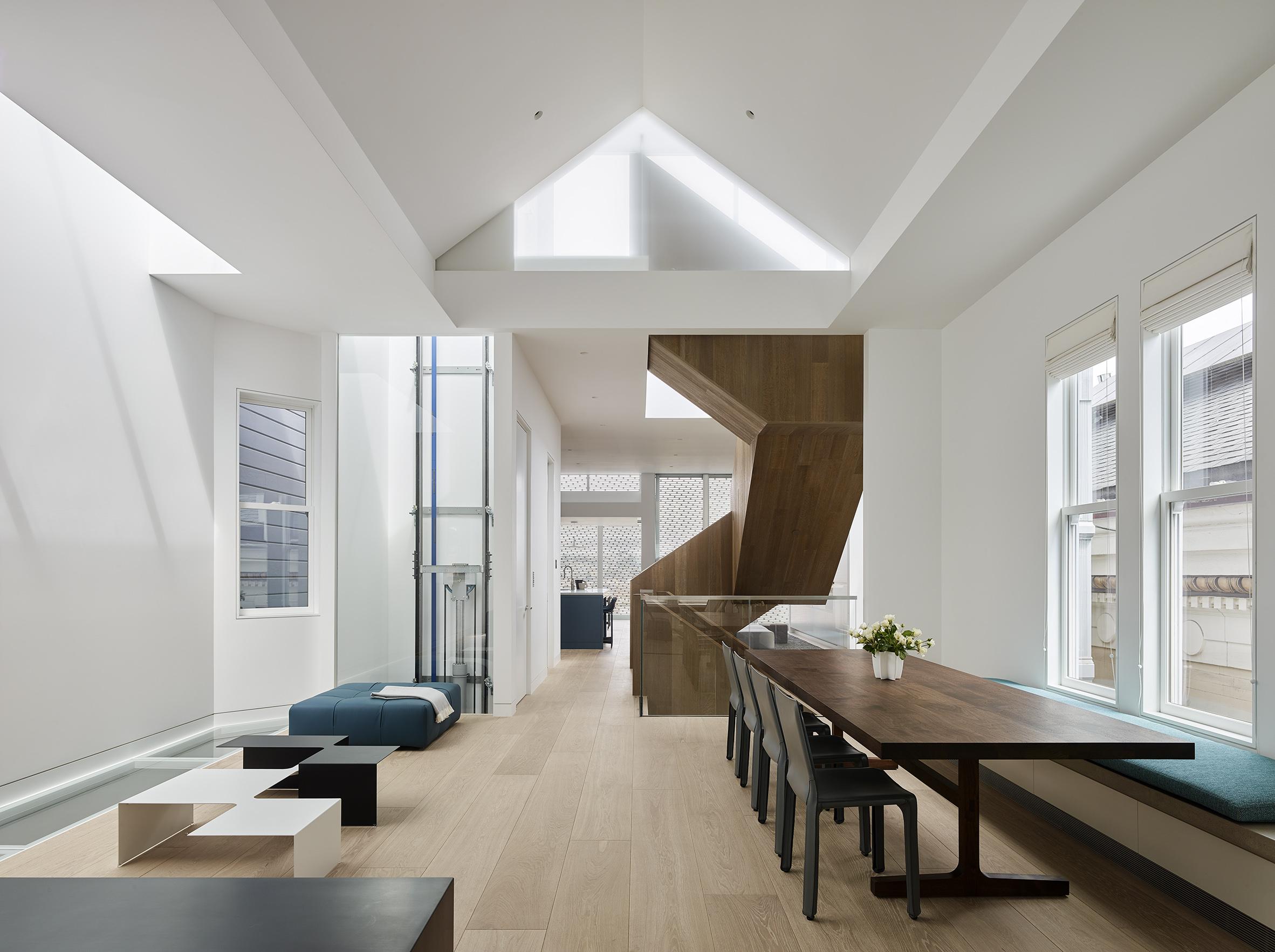 Fulton Street Residence living room