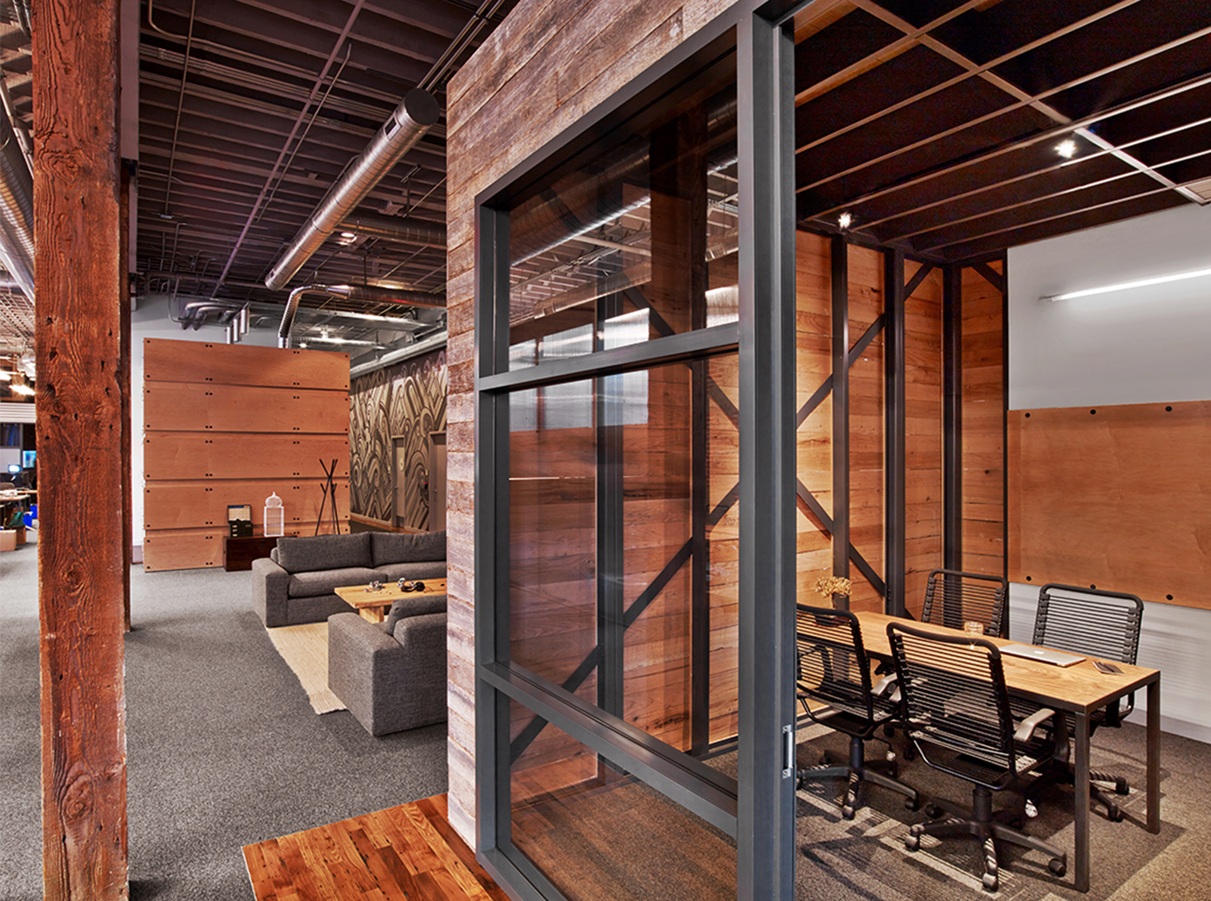 Heroku San Francisco Office Conference Room with Wood Detailing