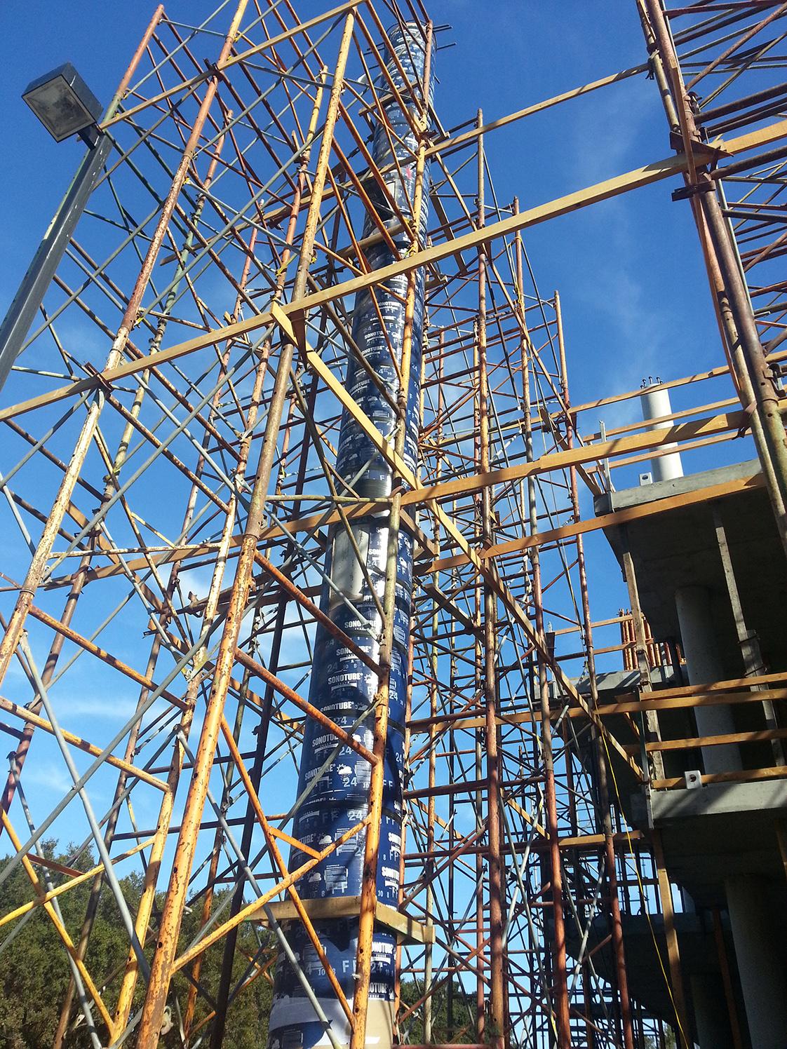 Stanford School of Medicine C.J. Huang Building Under Construction Column Pour