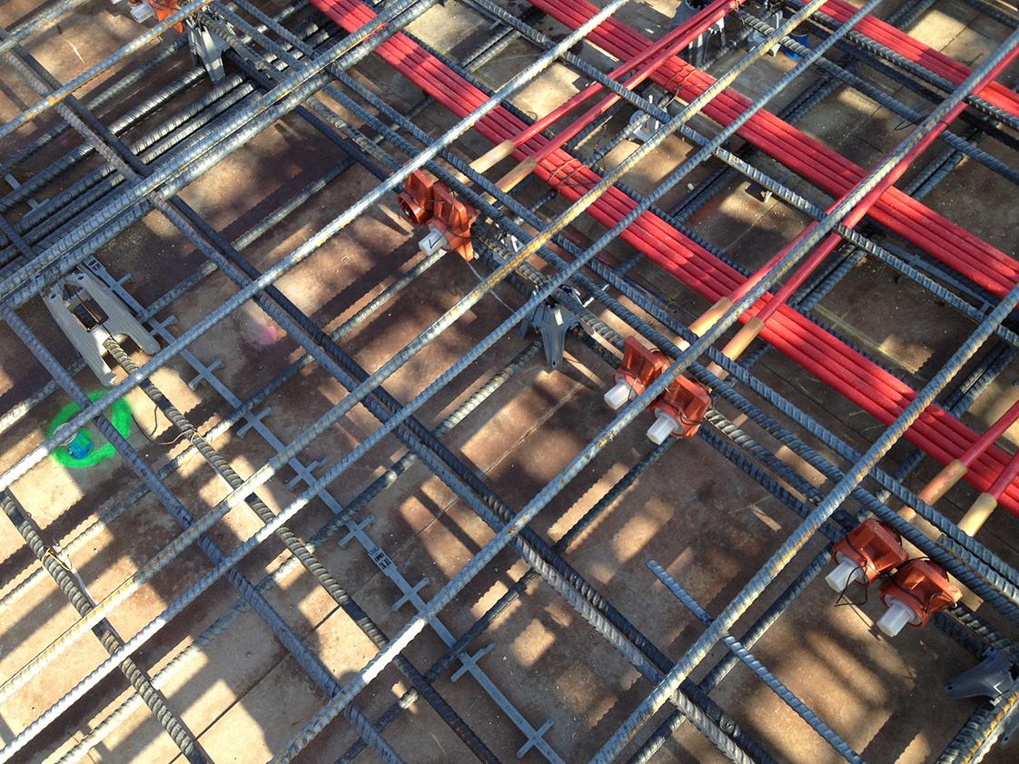 Stanford School of Medicine C.J. Huang Building Under Construction Tension Rods