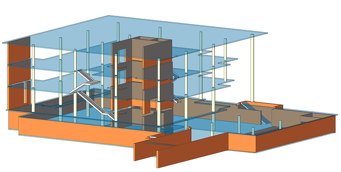 Stanford School of Medicine C.J. Huang Building Model